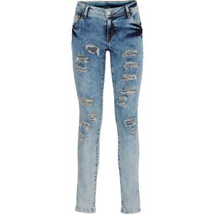 RAINBOW Jean avec effets déchirés bleu femme - bonprix