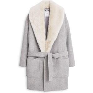 MANGO Langer Mantel Aus Woll-Mix