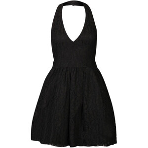 Club L Women's Lace Halter Neck Skater Dress - Black
