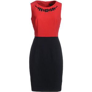 Bexleys Woman, Two-Tone-Kleid, Rot/Schwarz, Größe 48