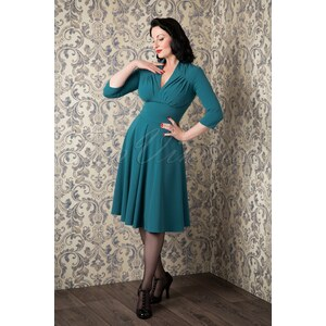 Miss Candyfloss 50s Vedette Turqouise Swing dress