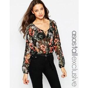ASOS TALL - Geblümte Vintage-Bluse im Boho-Stil