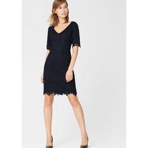 s.Oliver PREMIUM Spitzen-Kleid mit weitem Ausschnitt