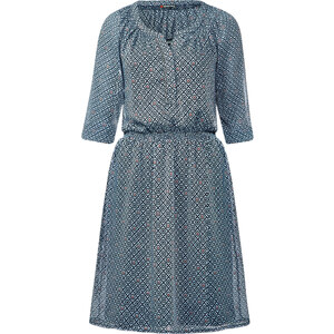 Street One - Robe mousseline Judy - print bleu