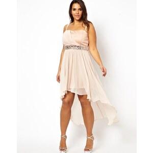 AX Paris Curve Drop Back Strapless Jewel Dress