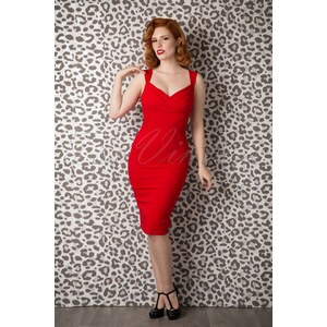 Collectif Clothing TopVintage exclusive ~ 50s Audrey Pencil Dress Red
