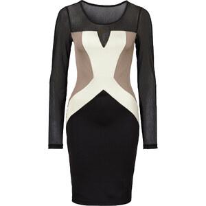 BODYFLIRT boutique Kleid in Scubaoptik in schwarz von bonprix