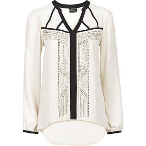 BODYFLIRT boutique Bluse mit Nieten in weiß von bonprix