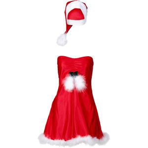 Robe de Noël + bonnet (Ens. 2 pces.) rouge lingerie - bonprix