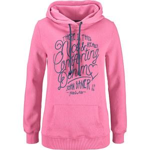 John Baner JEANSWEAR Sweatshirt, bedruckt langarm in rosa für Damen von bonprix