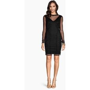H&M Beaded mesh dress