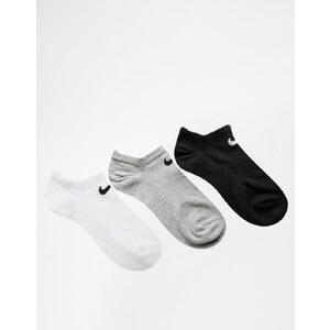 Nike - Lot de 3 paires de chaussettes invisibles légères - Multi