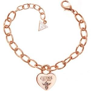 Guess Damenarmband mit Herz-Anhänger UBB21569-S