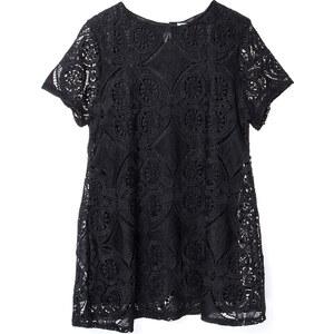 Lesara Schwarzes Kleid mit Spitze - 48