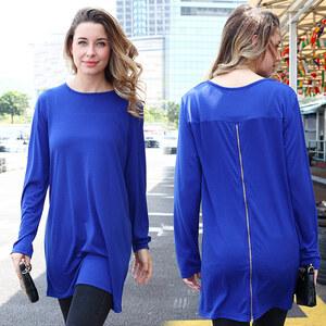 Lesara T-shirt à manches longues et zip dans le dos