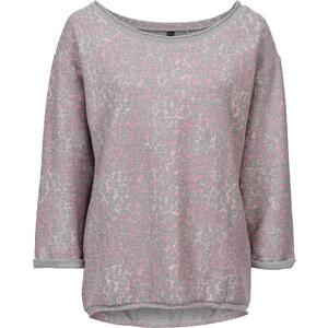 RAINBOW Sweatshirt 3/4 Arm in grau (Rundhals) für Damen von bonprix