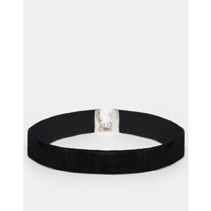 ASOS - Collier court basique en velours - Noir