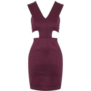 Topshop **Malvenfarbenes Kleid mit Aussparung von Twin Sister