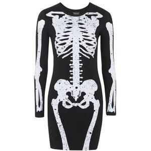 Topshop Skelett-Minikleid - Schwarz