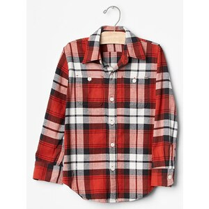 Gap Plaid Flannel Shirt - Navajo red