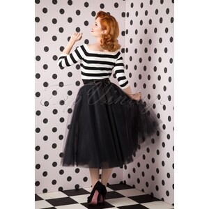 TopVintage Boutique Collection 50s Jocelyn Fairytale Skirt in Black