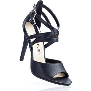 BODYFLIRT Sandales noir avec 11 cm haut talonchaussures & accessoires - bonprix