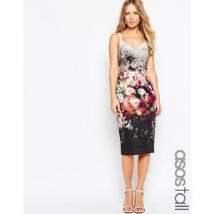 ASOS TALL - Hitchcock-Kleid mit Blumenmuster - Mehrfarbig
