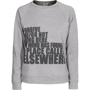 HAUTE HIPPIE Elsewhere Sweat Heather Grey