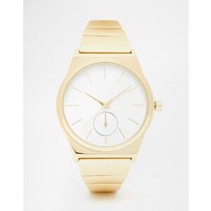 ASOS - Schlichte Boyfriend-Armbanduhr aus Metall - Gold