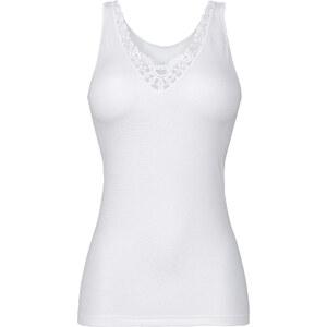 Caraco blanc sans manches lingerie - bonprix