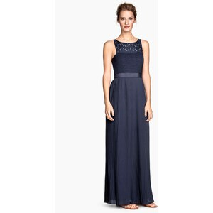 H&M Robe longue plissée