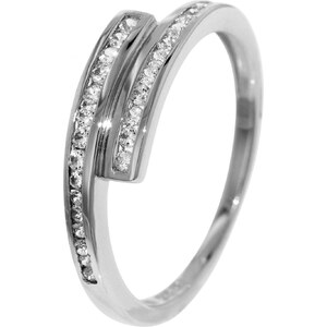 trendor Weißgold Zirkonia-Ring 51580-52, 52/16,6