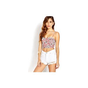 FOREVER21 Kurzes Top mit abstraktem Muster
