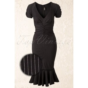 Rock Steady Clothing 50s Maria Pencil Dress in Black