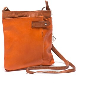 Isabella Rhea Sac bandoulière en cuir - orange