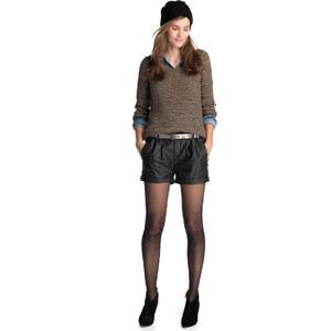 Esprit Perforierte Shorts im Leder-Look
