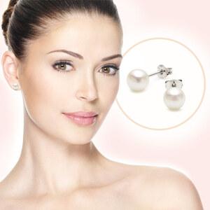 Lesara Süßwasserperlen-Ohrringe in 925er Silber-Fassung