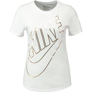 Nike Sportswear TShirt print weiß/gold