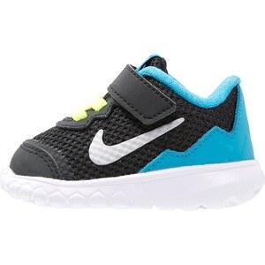 Nike Performance FLEX EXPERIENCE 4 Laufschuh Dämpfung black/metallic silver/blue lagoon/white