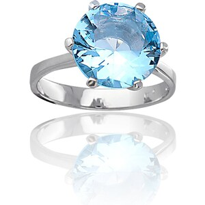 Cleor Bague en argent - bleu