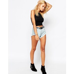 Tiger - Mist Tai - Denim-Shorts, Fesitval - Blau