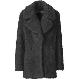RAINBOW Manteau en synthétique imitation fourrure noir manches longues femme - bonprix