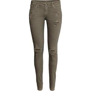 H&M Jean Super Skinny Low Ripped