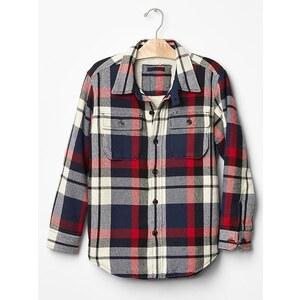 Gap Cozy Plaid Shirt Jacket - Elysian blue