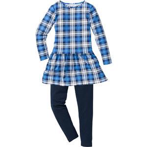 bpc bonprix collection Robe + legging (Ens. 2 pces.), T. 116-170 bleu manches longues enfant - bonprix