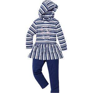 bpc bonprix collection Robe à capuche + legging (Ens. 2 pces.), T. 80-134 blanc manches longues enfant - bonprix