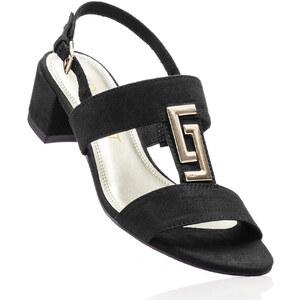 BODYFLIRT Sandales noir avec 4 cm talon carréfemme - bonprix