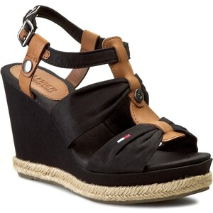 Espadrilles TOMMY HILFIGER - DENIM - Lively 25C EN56818681 Black 990
