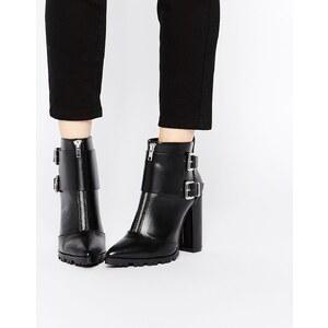 ASOS - EVIDENCE - Spitze Ankle-Boots - Schwarz