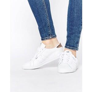 adidas Originals - Miss Stan - Weiße Sneakers mit Leopardenmuster